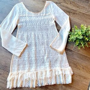 Free People boho lace dress